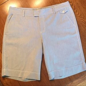 Dockers Blue/White Pinstripe Bermuda Shorts